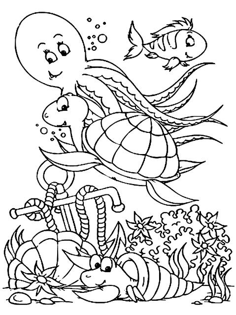 Gambar Mewarnai Binatang Laut - 8