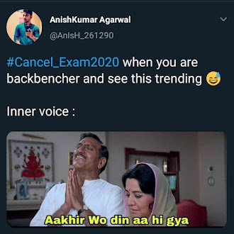Cancel Exam2020 Trending