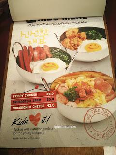 Ojju K-Food Restaurant Jakarta Menu