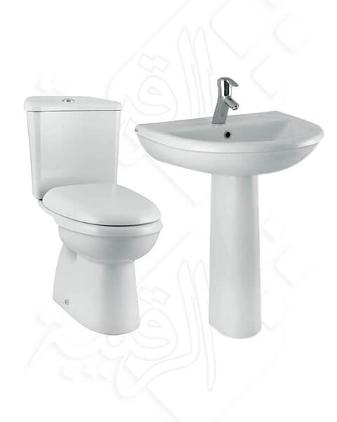 طقم حمام كليوباترا أبيض موديل كرونس