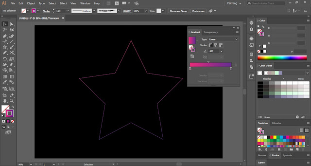 Gradient Line Art in Adobe Illustrator