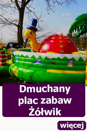 Dmuchany plac zabaw Żółwik, atrakcje dla dzieci