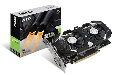 MSI GeForce GTX 1050 TI 4GT OC Graphics Card