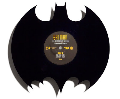 "Batman: The Animated Series Die-Cute 12"" Black Single Vinyl Record by Danny Elfman & Phantom City Creative"