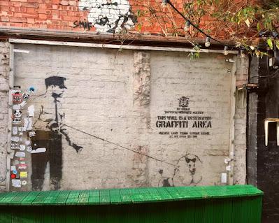 Banksy - Shoreditch London art street graffiti