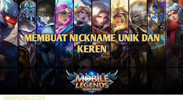 Cara Membuat Nickname Unik dan Bervariasi di Mobile Legends