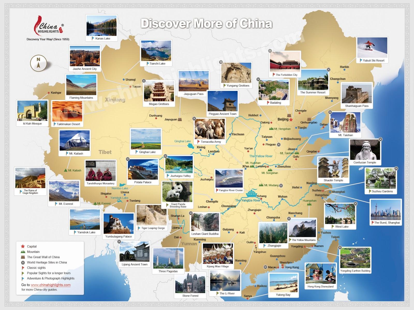 China | Mapas Geográficos da China