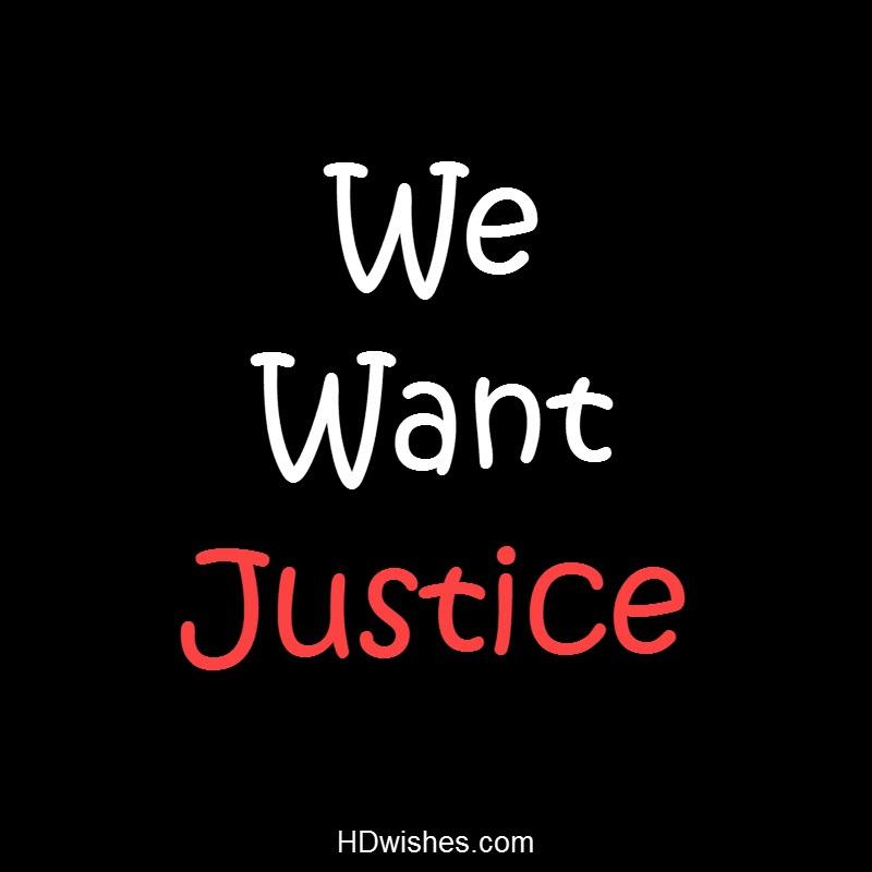 We Want Justice Black DP