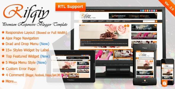 Rifqiy v2.0 – Responsive Magazine/News Blogger Template