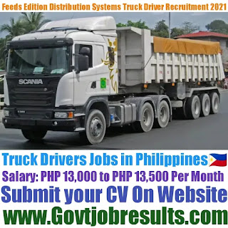 Feeds Edition Distribution Systems Inc Truck Driver Recruitment 2021-22