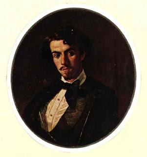 Retrato de Gustavo Adolfo Bécquer pintado por su hermano Valeriano en 1854