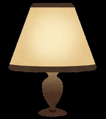 卓上ランプのイラスト