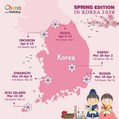 Jadwal spring korea selatan