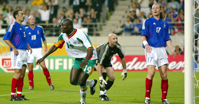 Bouba Diop in action for Senegal at the World cup