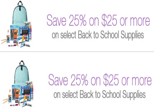 Amazon.ca Back To School 25% Off School Supplies