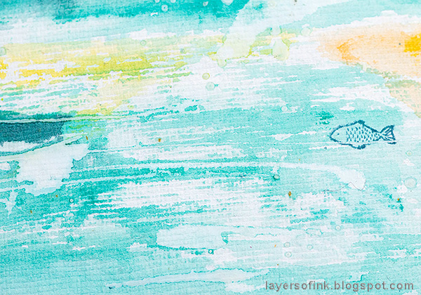 Layers of ink - Ocean Art Journal Page Tutorial by Anna-Karin Evaldsson. Watercolor resist.