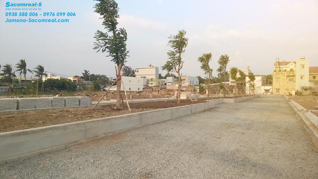 Hạ tầng khu đất nền Jamona Golden Silk đang được hoàn thiện (tháng 5/2016).
