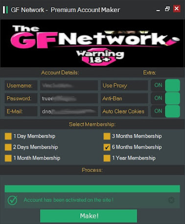The GF Network Premium Generator - available only on eroticgangsters.com