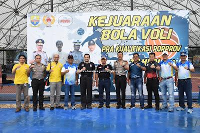 Kapolda Buka Kejurda Pra Porprov Cabang Olahraga Bola Voli Indoor Tahun 2019