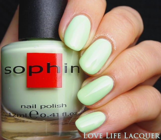 Sophin Macaroons 341 soft mint swatch by @lovelifelacquer