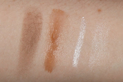 PONi Brow Powder, PONi Brow Wax and Highlighter Pencil Brow Kit review swatch swatches