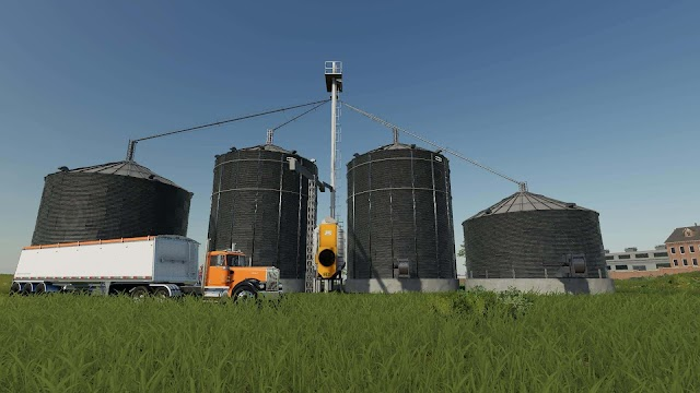 FS19 Large grain silo with dryer v1.0