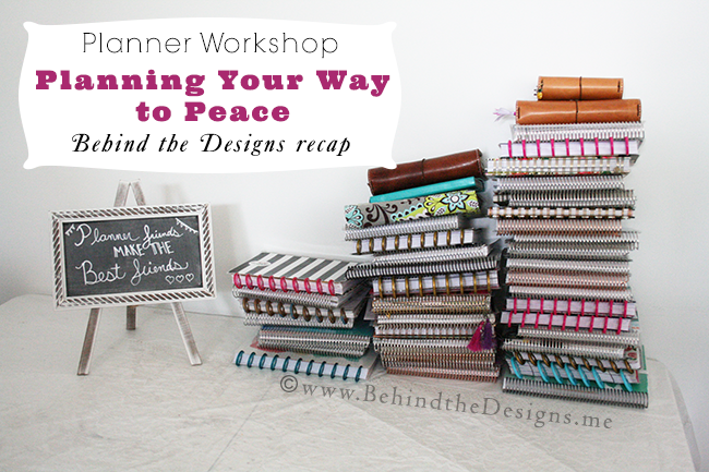 Planner Workshop -Planning Your Way to Peace -Behind the Designs Recap -Hosted by Norah Pritchard of Willowcrest Lane