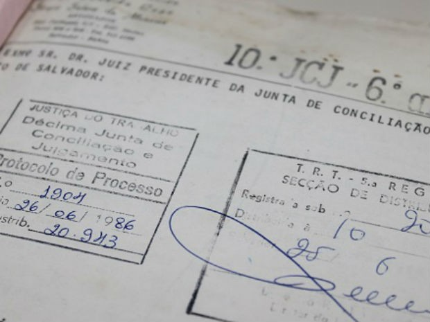 Processo foi ajuizado por trabalhador em junho de 1986, em Salvador (Foto: Divulgação/TRT)