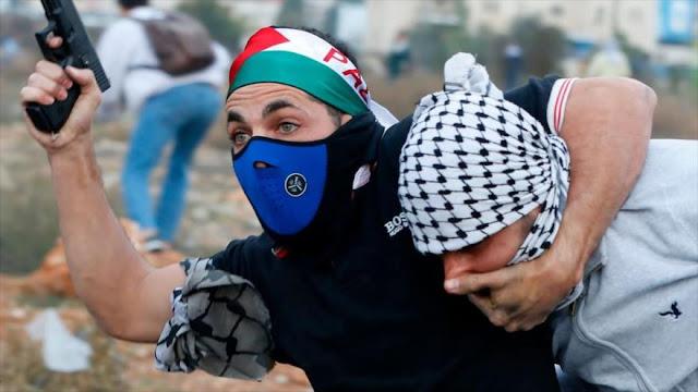 Agentes infiltrados israelíes reprimen una protesta de palestinos