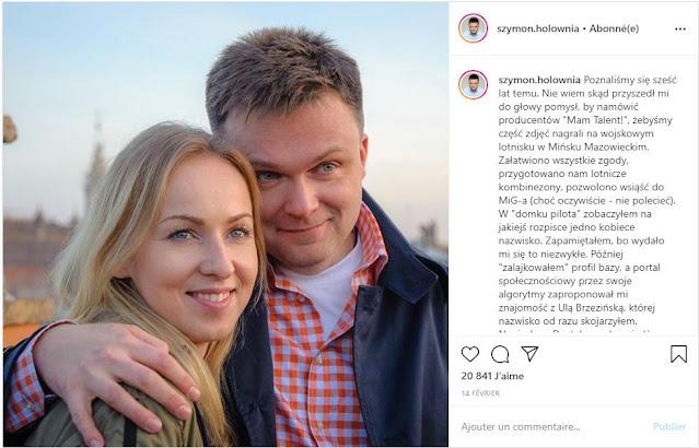 Szymon Hołownia obejmuje żonę