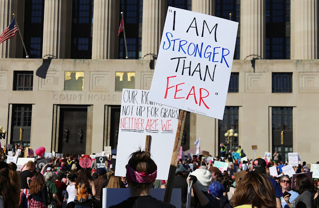 I am stronger than fear protest sign
