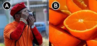 Which orange is lighter?