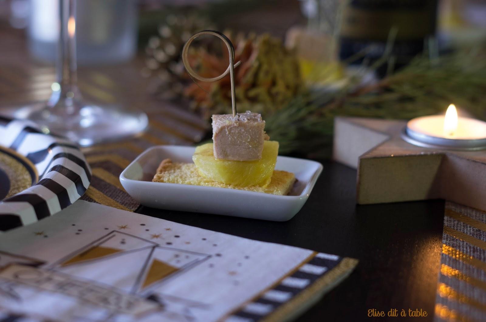 recette toasts briochés d'ananas poêlé et foie gras