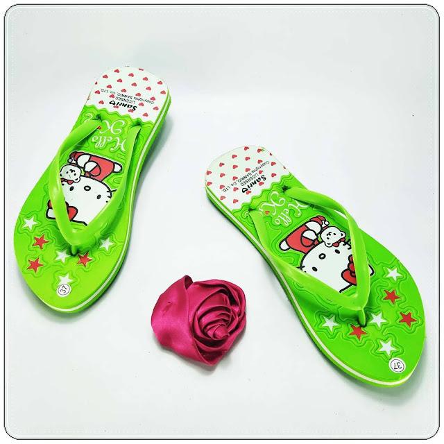 Sandal AB Sablon HK Wanita - Harga Murah Langsung Dari Pabrik 085860854424