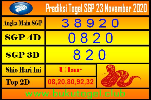 Syair Sgp 23 November 2020