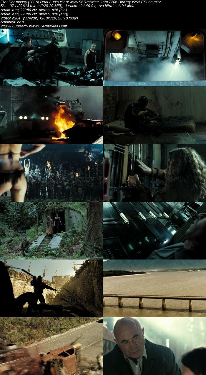 Doomsday (2008) Dual Audio Hindi 720p BluRay x264 900MB ESubs Movie Download