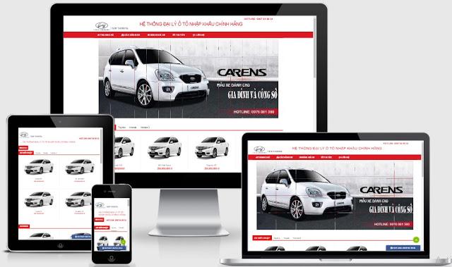 Template blogspot bán hàng dành cho showrom ô tô Kia