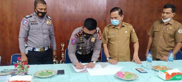 Kasat Lantas dan Kadisdikbud Aceh Utara Teken MoU Pengembangan Pendidikan Lalu Lintas
