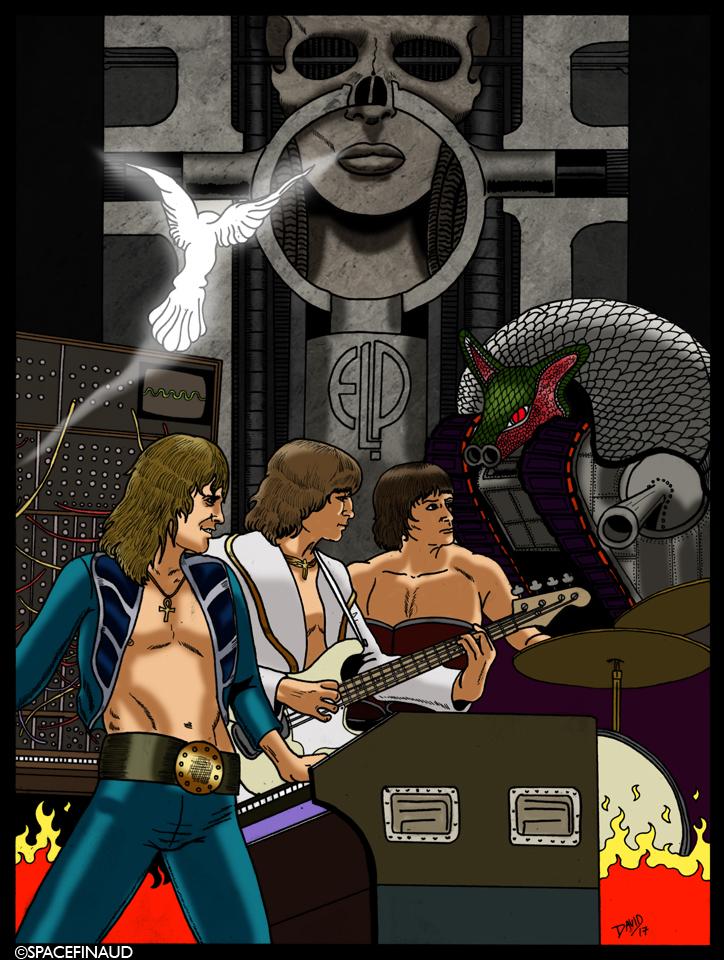 L'année 2016, fut une année chaotique avec la perte de pas mal d'artistes dans le milieu rock. Surtout quand on perd deux musiciens dans un même groupe. ce fut le cas avec les Jefferson Airplane. Puis en 2015, avec Motorhead. Là, je rend hommage à Keith Emerson et Greg Lake disparus en 2016 à neuf mois d'intervalle.  J'aime particulièrement ce groupe, j'ai toujours aimé les groupes qui possèdent un clavier, un orgue. Des groupes comme Deep Purple, par exemple.
