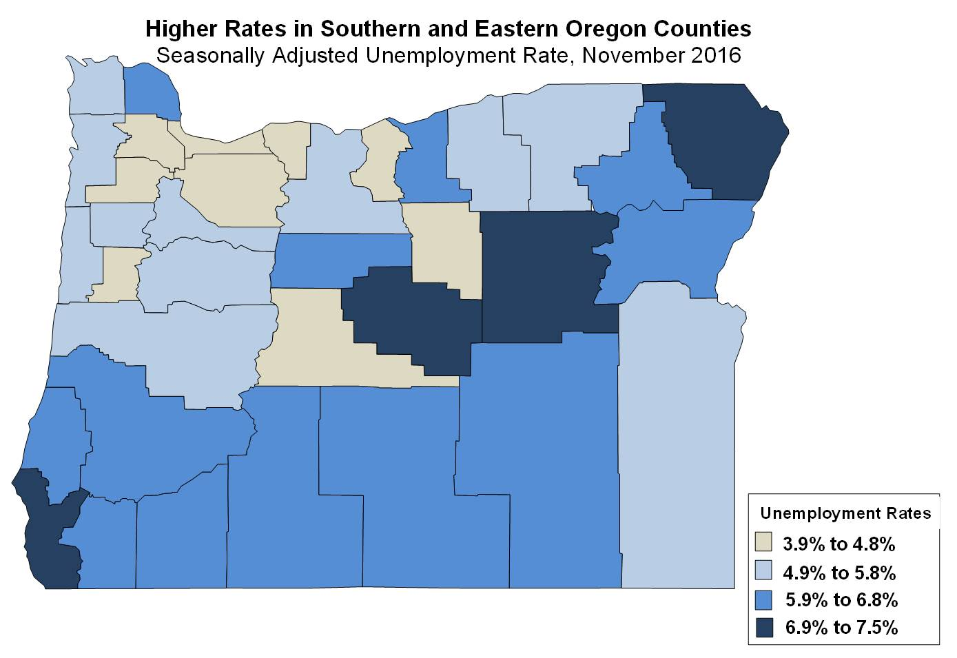 Oregon Workforce And Economic Information November Unemployment - Us counties with lowest unemployment rate