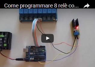 Come programmare 8 relè con Arduino UNO R3 usando un foglio di calcolo