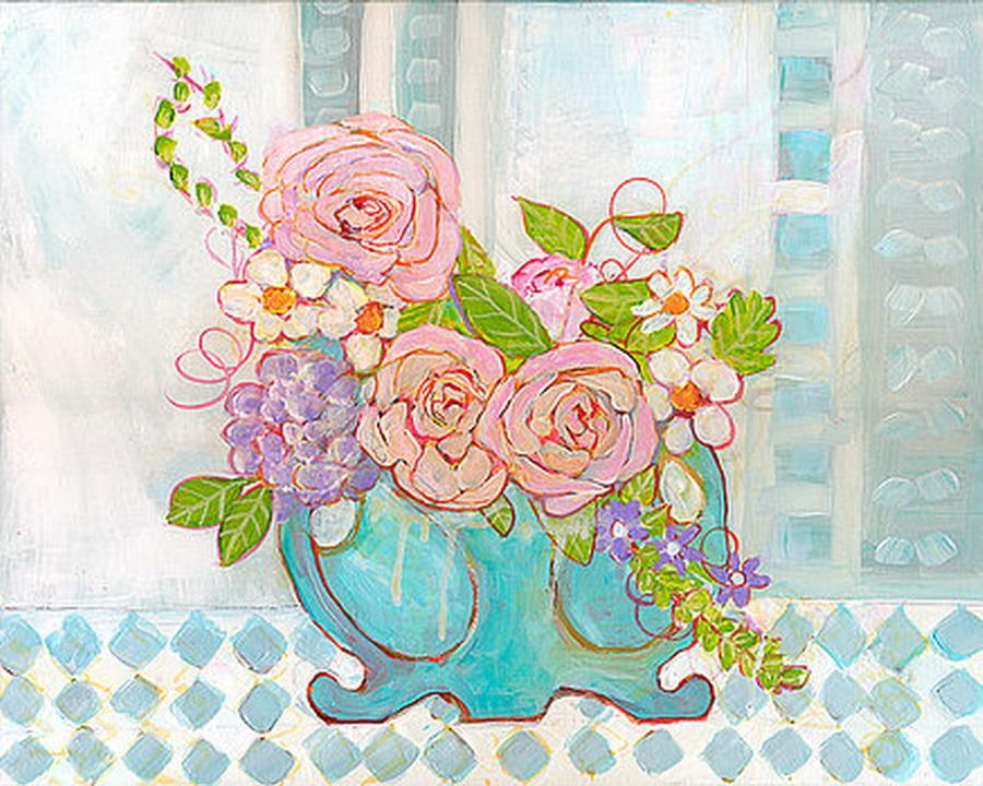 Cuadros modernos pinturas y dibujos flores de tonos - Disenos de cuadros ...