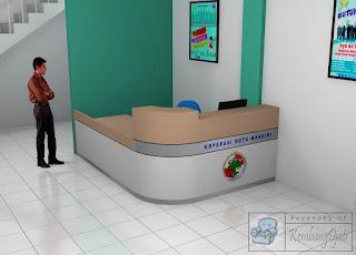 Meja Front Office Kantor + Furniture Semarang