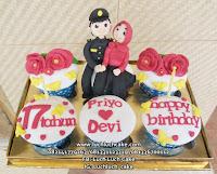 Cupcake Tema Couple Polisi Romantis