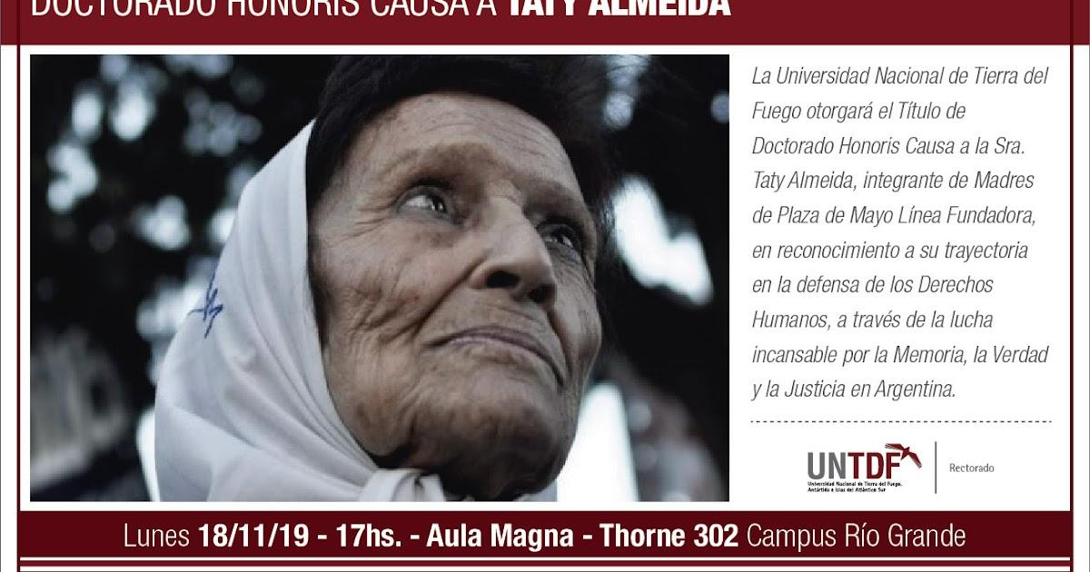 Río Grande: Este Lunes 18 la UNTDF le otorgará el título de Doctora Honoris Causa a Taty Almeida - Portal La TDF