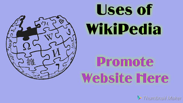 Website promote with wikipedia, Wikipedia,