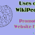 How can promote Blog or Website on Wikipedia?