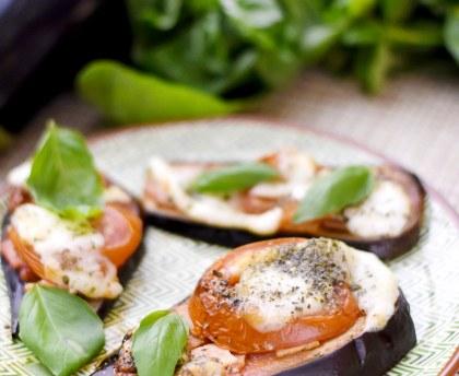 Pizza on eggplant