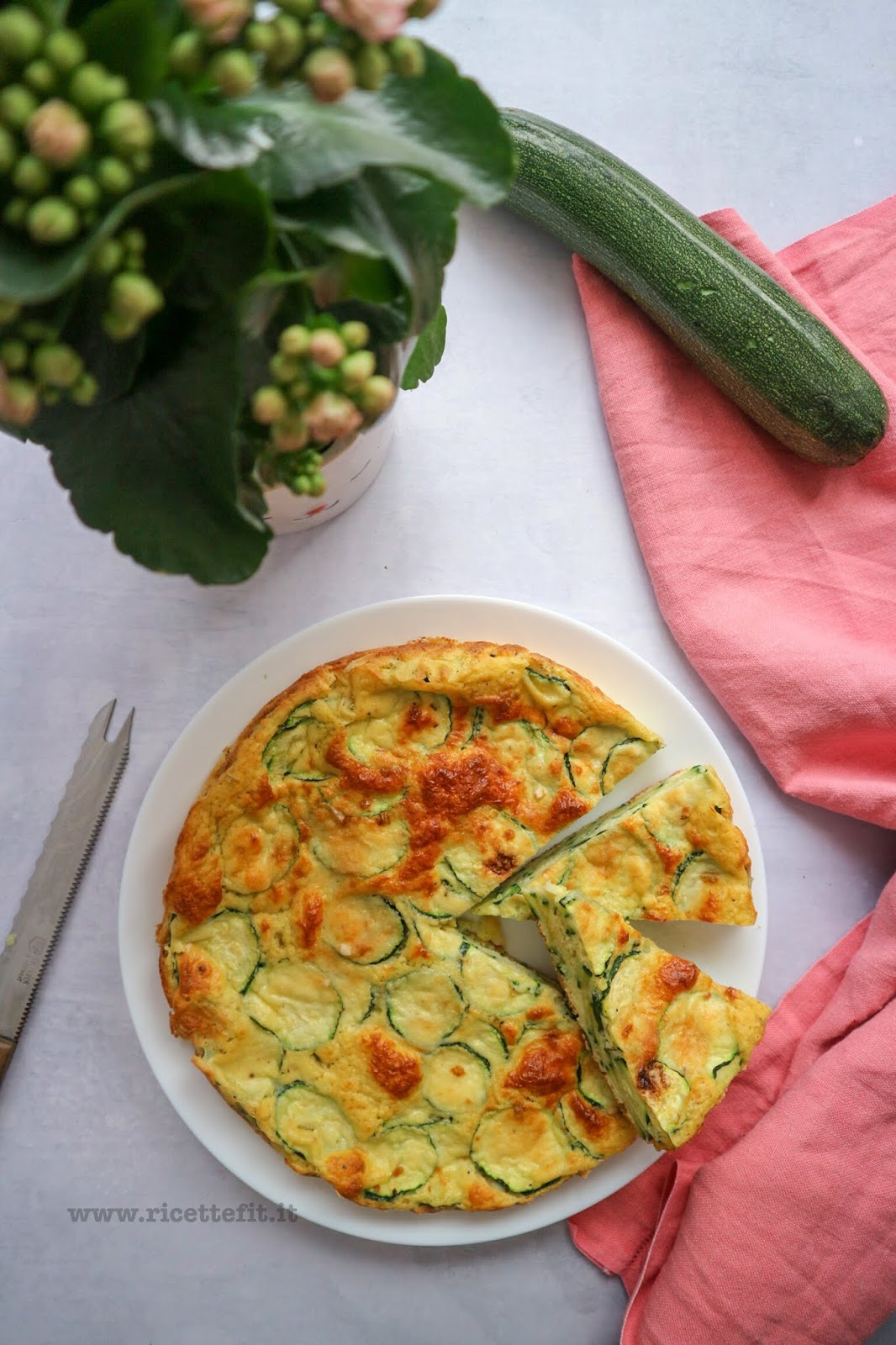 torta salata di zucchine senza base low carb senza grassi light