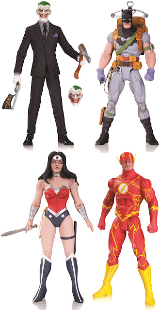 "DC Comics Greg Capullo Batman Designer Series Wave 4 Action Figures - The Joker, ""Zero Year"" Survival Gear Batman, Wonder Woman & The Flash"